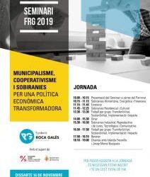 Seminari sobre municipalisme, cooperativisme i sobiranies per una política econòmica transformadora.