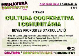 Cultura Cooperativa i Comunitària a la #PrimaveraCooperativa2019