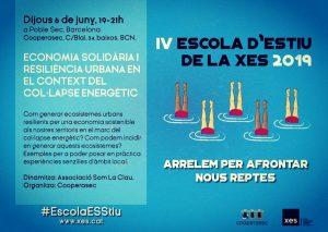 Avui inauguració de l'#EscolaESStiu de la Xarxa d'Economia Solidària (XES)